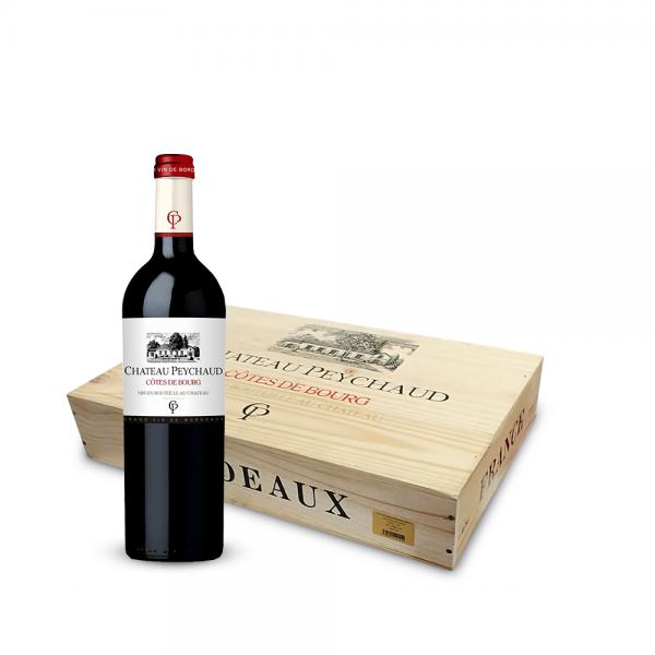"""שאטו פישו – קוט דה בורג בורדו 750 מ""""ל בארגז עץ (מכיל 6 בקבוקים)"""