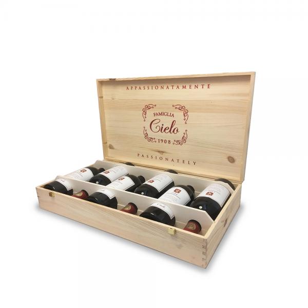 """צ'לו אפסיונמנטה ונטו 750 מ""""ל בארגז עץ (מכיל 6 בקבוקים)"""