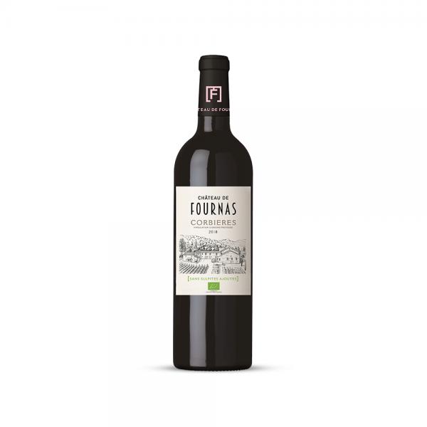 """שאטו דה פורנאס יין אדום יבש קורבייה 750 מ""""ל"""